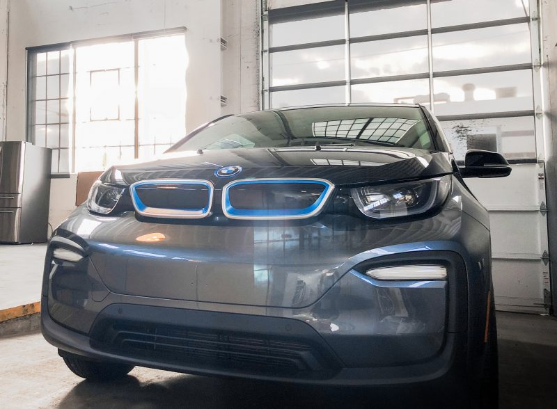 An image of Portland Internetworks' new BMW i3 with Sunflare
