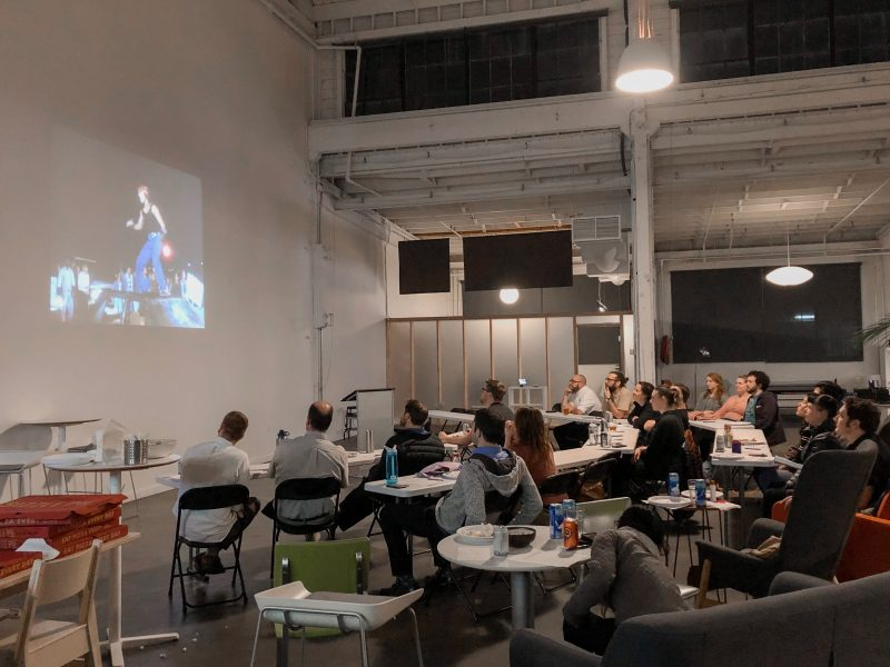 The team gathered at the most recent B-Movie Bingo.