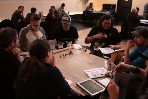 Pdx.net members playing Pathfinder.