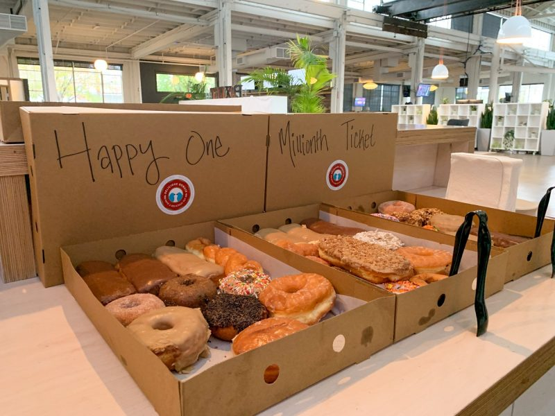 Donuts in celebration of One Million tickets being serviced at Portland Internetworks.